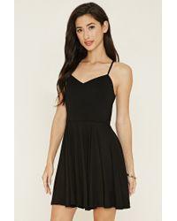 Forever 21 | Black Crisscross Cami Mini Dress | Lyst