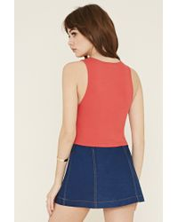 Forever 21 - Red Crisscross-front Top - Lyst