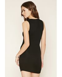Forever 21 - Black Contemporary Lace-up Dress - Lyst