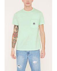 Forever 21 - Green Shark Graphic Pocket Tee for Men - Lyst