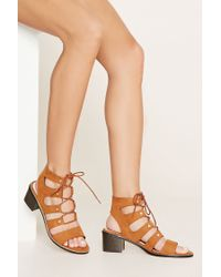 Forever 21 | Brown Lace-up Sandals | Lyst