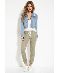 Forever 21 | Gray Marled French Terry Joggers | Lyst