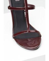 Forever 21 - Purple Faux Leather T-strap Stiletto Sandals - Lyst
