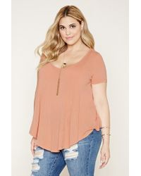 Forever 21 | Multicolor Plus Size Scoop-neck Tee | Lyst