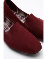 Forever 21 - Purple Faux Suede Loafers - Lyst