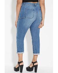 Forever 21 - Blue Plus Size Pocket Jeans - Lyst