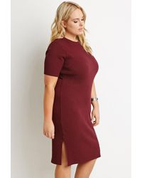 Forever 21 | Purple Plus Size Side-slit Midi Dress | Lyst