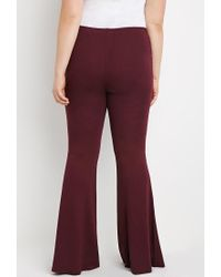 Forever 21 - Purple Flared Knit Pants - Lyst