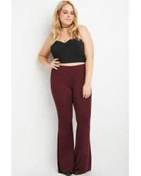 Forever 21   Purple Plus Size Flared Knit Pants   Lyst