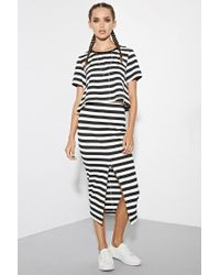 Forever 21 | Black The Fifth Label Above The Clouds Stripe Top | Lyst