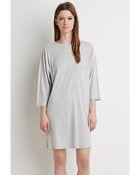 Forever 21   Gray Boxy Heathered T-shirt Dress   Lyst