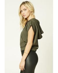 Forever 21 - Green Contemporary Drawstring Hood Top - Lyst