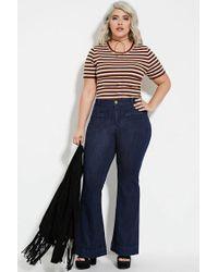 Forever 21 - Blue Plus Size Flared Jeans (regular) - Lyst