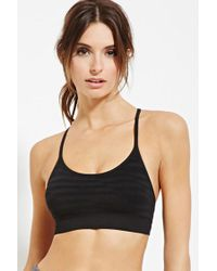Forever 21 - Black Active Low Impact - Sports Bra - Lyst