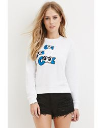 Forever 21   White Cool Graphic Jumper   Lyst