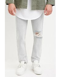 Forever 21 | Blue Distressed Slim Fit Jeans for Men | Lyst
