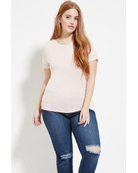Forever 21 | Pink Plus Size Classic Tee | Lyst