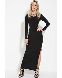 Forever 21 - Black High-slit Maxi Dress - Lyst
