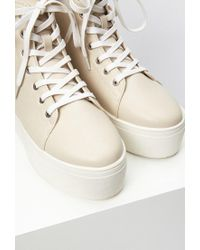 Forever 21 - Natural Platform High-tops - Lyst