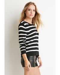 Forever 21 - Gray Textured Stripe Sweater - Lyst