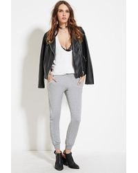 Forever 21 | Gray Topstitch Heathered Jogger | Lyst
