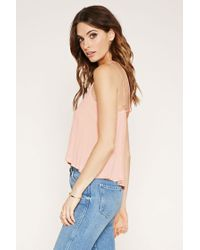Forever 21 - Pink Contemporary Crisscross Cami - Lyst