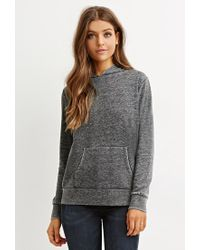Forever 21 | Gray Classic Heathered Hoodie | Lyst