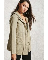 Forever 21 | Green Hooded Utility Jacket | Lyst