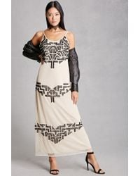 Forever 21 | Natural Rd & Koko Beaded Maxi Dress | Lyst