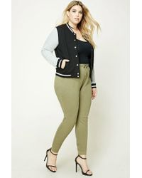 Forever 21 | Green Plus Size Heathered Joggers | Lyst