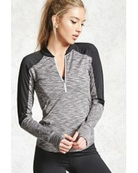 Forever 21 | Gray Active Marled Panel Pullover | Lyst