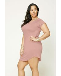 Forever 21 | Pink Plus Size T-shirt Dress | Lyst