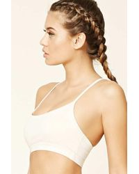 Forever 21 - Natural Low Impact - Strappy Sports Bra - Lyst