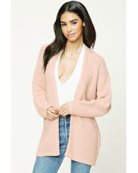 Forever 21 | Pink Open-knit Cardigan | Lyst