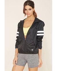 Forever 21 | Black Active Varsity-striped Jacket | Lyst