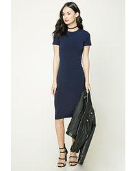 Forever 21 | Blue Stretch-knit Midi Dress | Lyst