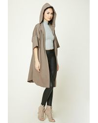 Forever 21 | Multicolor Raw-cut Hooded Cardigan | Lyst