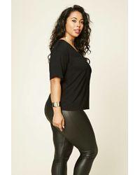 Forever 21 - Black Plus Size Crisscross-front Top - Lyst