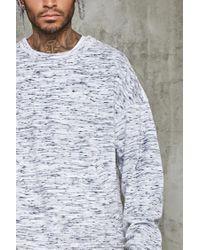 Forever 21 | White Marled Velvet Pocket Sweater for Men | Lyst