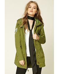 Forever 21 | Green Chevron Stripe Cargo Jacket | Lyst