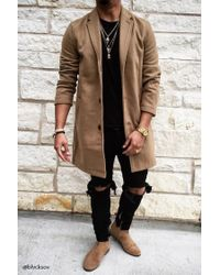 Forever 21 | Natural Wool-blend Overcoat for Men | Lyst