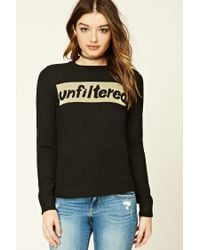 Forever 21 | Black Unfiltered Graphic Sweater | Lyst