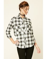 Forever 21 | Natural Tartan Check Flannel Shirt | Lyst