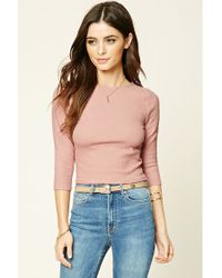 Forever 21 | Pink Crisscross Back Crop Top | Lyst