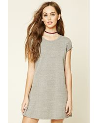 Forever 21 | Gray Heathered Knit T-shirt Dress | Lyst
