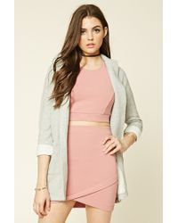 Forever 21 | Gray Longline Heathered Overcoat | Lyst
