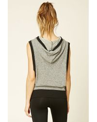 Forever 21 - Gray Active Hooded Pullover - Lyst