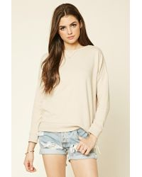 Forever 21 | Natural Lace-up Pullover | Lyst