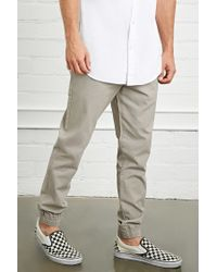Forever 21   Gray Cotton Drawstring Joggers for Men   Lyst