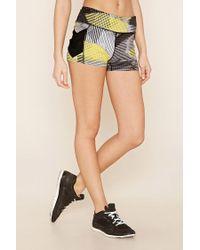 Forever 21 | Black Active Chevron Mesh Shorts | Lyst